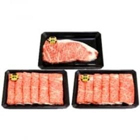 5等級鹿児島黒牛サーロインステーキ200g×2パック・すきやきセット A12(E-301)