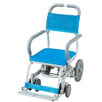 (代引き不可)シャワーラク 低座面 穴無シート SWR-101 ウチヱ(お風呂 椅子 浴用 シャワーキャリー 背付き 介護 椅子) 介護用品