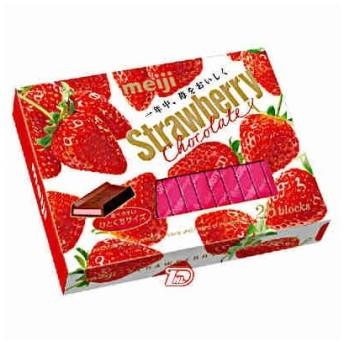 ストロベリーチョコレートBOX 明治製菓 1箱(26枚入)