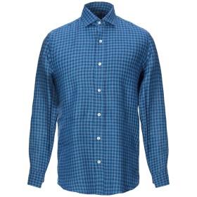 《期間限定セール開催中!》SALVATORE PICCOLO メンズ シャツ ブルー 39 麻 100%