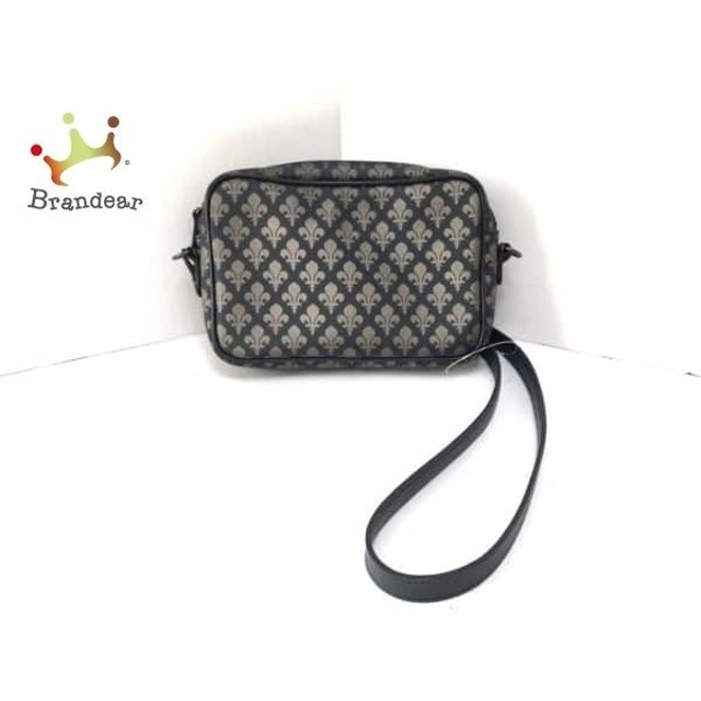 80ff1093083d パトリックコックス ショルダーバッグ 黒×ダークブラウン PVC(塩化ビニール)×レザー スペシャル