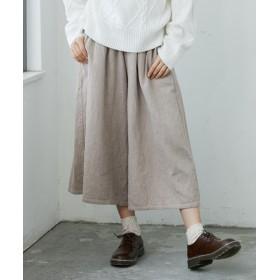 綿100%肉厚ダブルガーゼスカーチョ (レディースパンツ),pants