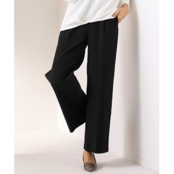 【接触冷感】すごく伸びるきれいめワイドパンツ (レディースパンツ),pants