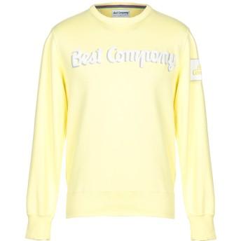 《セール開催中》BEST COMPANY メンズ スウェットシャツ イエロー XL コットン 100%