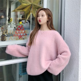 韓国ファッション CHIC気質 お洒落 心地良い 長袖 ニット セーター 大人気