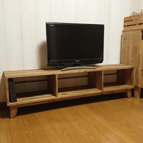 【TVボード 140cmタイプ】1400300h380 パイン無垢集成材