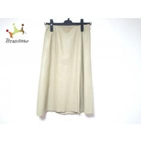 ロイスクレヨン Lois CRAYON スカート サイズM レディース 美品 ベージュ レザー      値下げ 20191225