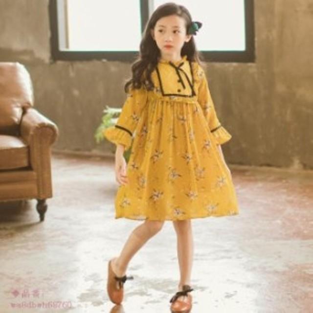 bc169a00577cc 子供服 女の子 シフォン 普段着 七五三 入学 ワンピース 海外旅行 お嬢様風 入園式 お出かけ