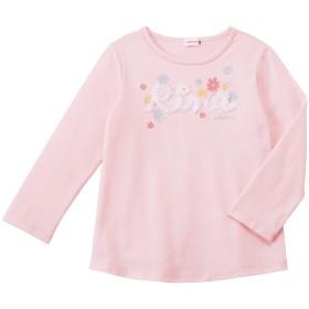 ミキハウス リーナちゃんチュールリボン長袖Tシャツ ピンク