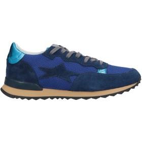 《セール開催中》ISHIKAWA メンズ スニーカー&テニスシューズ(ローカット) ブライトブルー 40 革 / 紡績繊維