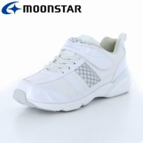 ムーンスター 子供靴 スニーカー シューズ SG J504 ホワイト シンプルなカジュアルスポーツタイプのジョギングタイプ。