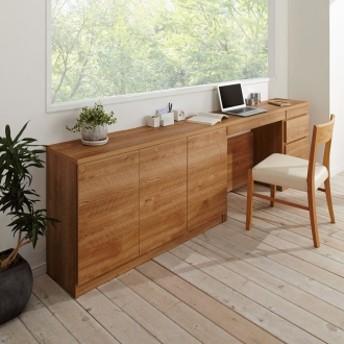 天然木調薄型コンパクトオフィスシリーズ 3枚扉キャビネット・幅120cmブラウン