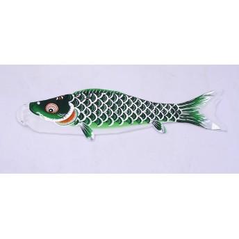【鯉のぼり】ベランダセット銀翔 0.8m グリーン単品【送料無料】