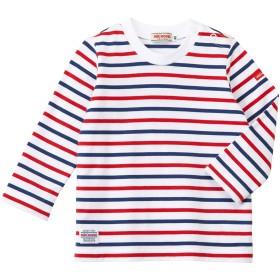 ミキハウス ボーダー長袖Tシャツ 赤×紺