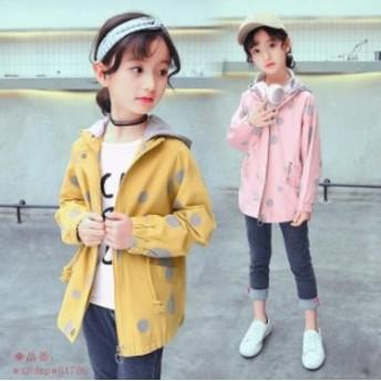 子ども服 女の子 マウンテンパーカー 春秋着 子供服 可愛いスタイル ライトアウター トップス 長袖 ジャケット スタジャン