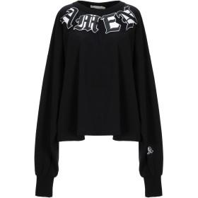 《期間限定セール開催中!》.AMEN. レディース スウェットシャツ ブラック one size コットン 95% / ポリウレタン 5% / ポリエステル