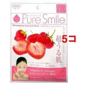 ピュアスマイル エッセンスマスク 007 ストロベリー ( 1枚入5コセット )/ ピュアスマイル(Pure Smile) ( パック )