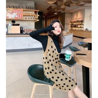 Fashions、2019新品 韓国ファッション ワンピース チュニック チョッキ ドレス 新作 レディース 新年会
