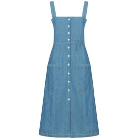 《セール開催中》LEVI'S MADE & CRAFTED レディース 7分丈ワンピース・ドレス ブルー 0 コットン 89% / 麻 11%