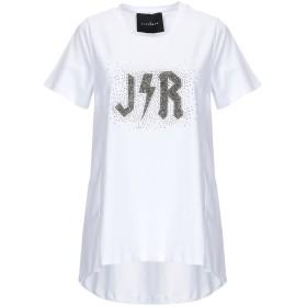 《セール開催中》JOHN RICHMOND レディース T シャツ ホワイト S コットン 95% / ポリウレタン 5%