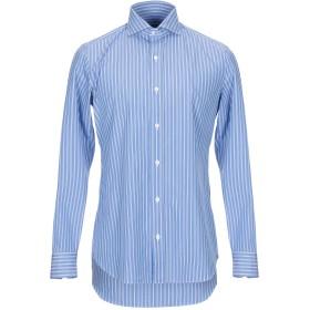《送料無料》SALVATORE PICCOLO メンズ シャツ ブルー 41 コットン 100%