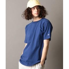 シップス SHIPS JET BLUE×Champion: 別注 made in usa T 1011 カラーTシャツ メンズ ネイビー LARGE 【SHIPS】