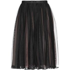 《セール開催中》N°21 レディース 7分丈スカート ブラック 40 ナイロン 100%