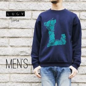 《Men's》 Lロゴ スウェット【NAVY】
