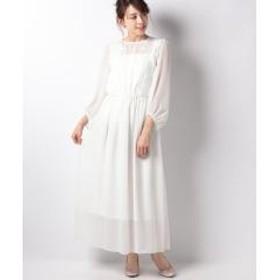 【結婚式・ウェディングドレス】シフォンスリーブロングウェディングドレス