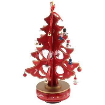 2カラー選ぶ 高品質 手作り DIY 装飾 クリスマス パーティー クリスマスツリー インテリア 飾り 置物 デコレーション - 赤