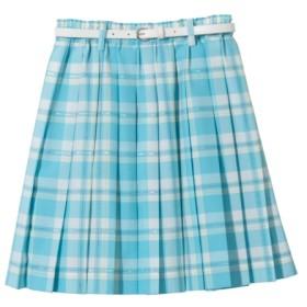 【卒業式】プリーツスカート(ベルト付)(女の子 子供服 ジュニア服) キッズフォーマル