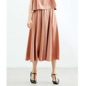 Rouge vif la cle / ルージュ・ヴィフ ラクレ ピーチサテンSET UP スカート