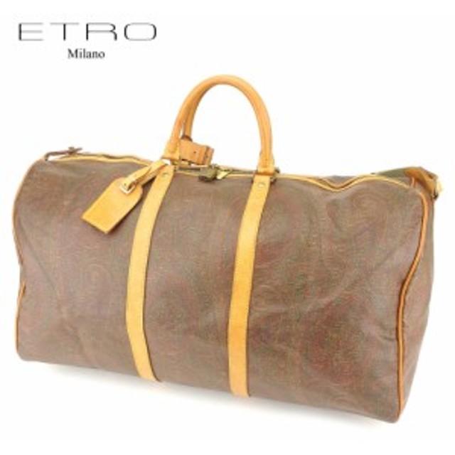 5002d466b9c7 エトロ ETRO ボストンバッグ バッグ バック トラベルバッグ 旅行用バッグ レディース メンズ ペイズリー 【中古
