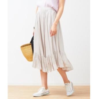 Rouge vif la cle / ルージュ・ヴィフ ラクレ 裾切替ギャザースカート