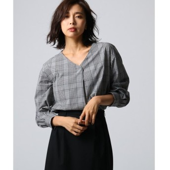 UNTITLED / アンタイトル [L]トレノチェックVネックシャツ