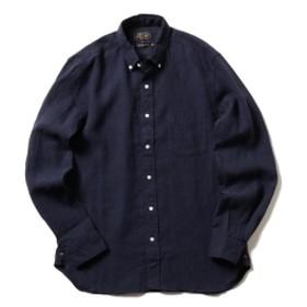 BEAMS PLUS / リネン ボタンダウンシャツ メンズ カジュアルシャツ NAVY S