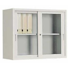 コクヨ/A4対応保管庫 上置き 引違いガラス戸 W880H730