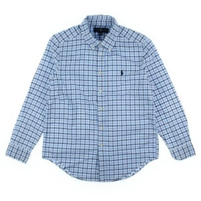 RALPH LAUREN  / ラルフローレン キッズ シャツ 色:白x水色x紺(チェック) サイズ:150