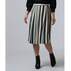 UNTITLED アンタイトル マルチストライププリントスカート