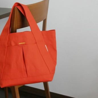 帆布 いつものトート (color: tomato red )