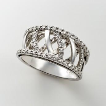 【送料無料】プラチナ ダイヤ デザインリング(ケナフ) - 9 10 11 12 13 14 15 16 17 18 19 20