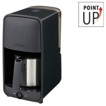 コーヒーメーカー おしゃれ デザイン ステンレスサーバー (0.81L) ADC-N060K ブラック コーヒー 6杯分 ステンレス サーバー 保温機能