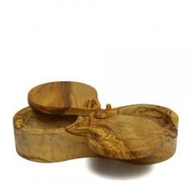 ベラール ソルトキーパー ダブル 90062 木製 食器 BERARD オリーブウッド