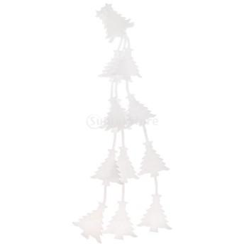 ノーブランド品 発泡 クリスマスツリーの飾り 3本 白 装飾品 ぶら下げ バンチ アクセサリー クリスマス 全3パターン - クリスマスツリー