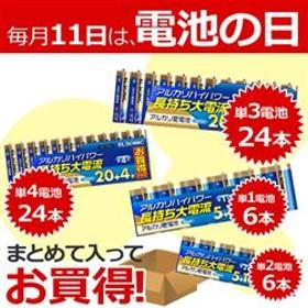 単1単2単3単4のお得な電池セット EGT1T2T3T4NEW4-ESET