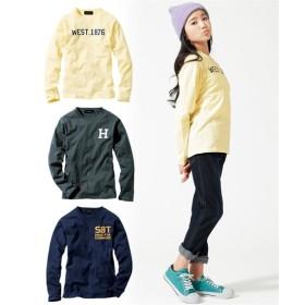 【もっとゆったりサイズ】綿混アメカジプリント長袖Tシャツ3枚組(男の子。女の子 子供服。ジュニア服) Tシャツ・カットソー