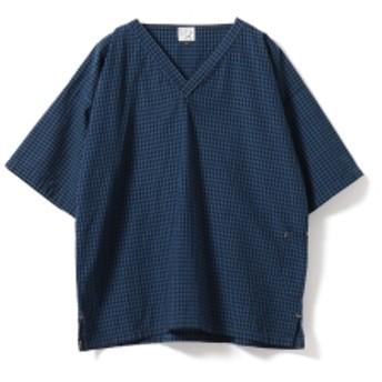 fennica <MEN>orslow × fennica / 別注 KIMONO プルオーバーシャツ メンズ カジュアルシャツ CHECK 1