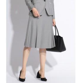 L size ONWARD(大きいサイズ) / エルサイズオンワード 【スーツ対応】シルクレーヨンスーティング スカート