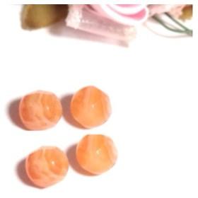 【オレンジの月】4個 カーネリアン・サードニクス(サードオニキス)6mm ラウンドカット