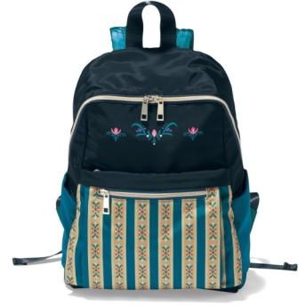 バッグ カバン 鞄 レディース リュック ディズニー コンパクトリュックサック カラー 「アナ(ブルーグリーン系)」